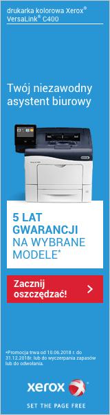 Xerox gwarancja 5 lat