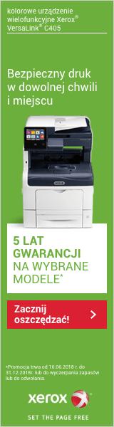 Xerox 5 lat gwarancji